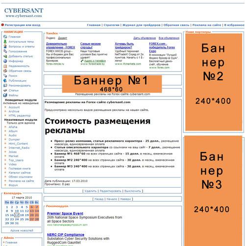 Схема размещения сайта
